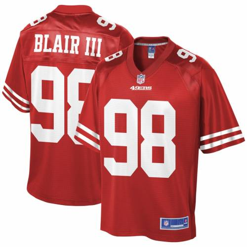 NFL PRO LINE フォーティーナイナーズ チーム ジャージ スポーツ アウトドア アメリカンフットボール メンズ 【 Ronald Blair San Francisco 49ers Team Player Jersey - Scarlet 】 Scarlet