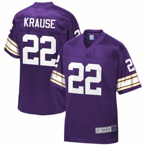 NFL PRO LINE ポール ミネソタ バイキングス ジャージ 紫 パープル スポーツ アウトドア アメリカンフットボール メンズ 【 Paul Krause Minnesota Vikings Retired Player Jersey - Purple 】 Purple