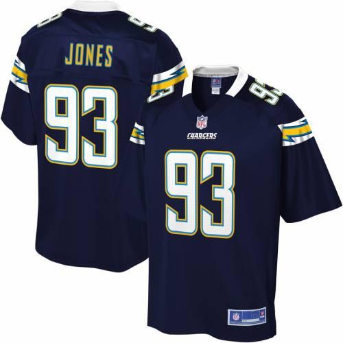 NFL PRO LINE チャージャーズ チーム ジャージ 紺 ネイビー スポーツ アウトドア アメリカンフットボール メンズ 【 Justin Jones Los Angeles Chargers Team Player Jersey - Navy 】 Navy