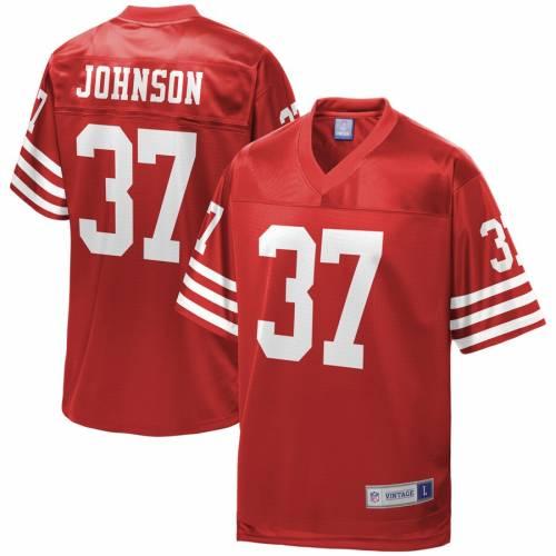 NFL PRO LINE ジョンソン フォーティーナイナーズ ジャージ 赤 レッド スポーツ アウトドア アメリカンフットボール メンズ 【 Jimmy Johnson San Francisco 49ers Retired Player Jersey - Red 】 Red