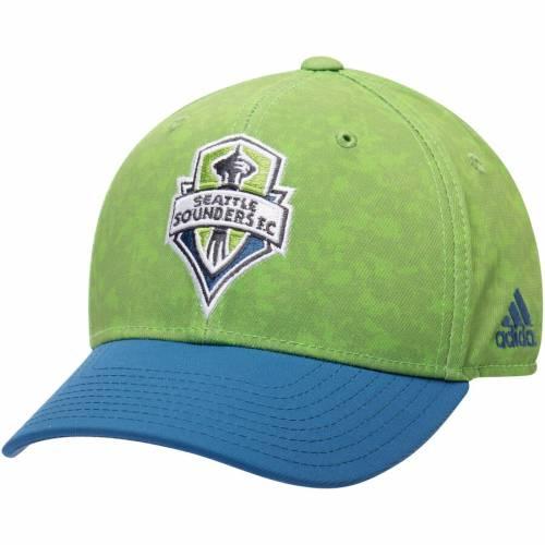 アディダス ADIDAS シアトル ロゴ ジャージ 緑 グリーン バッグ キャップ 帽子 メンズキャップ メンズ 【 Seattle Sounders Fc Primary Logo Jersey Hook Structured Adjustable Hat - Green 】 Green