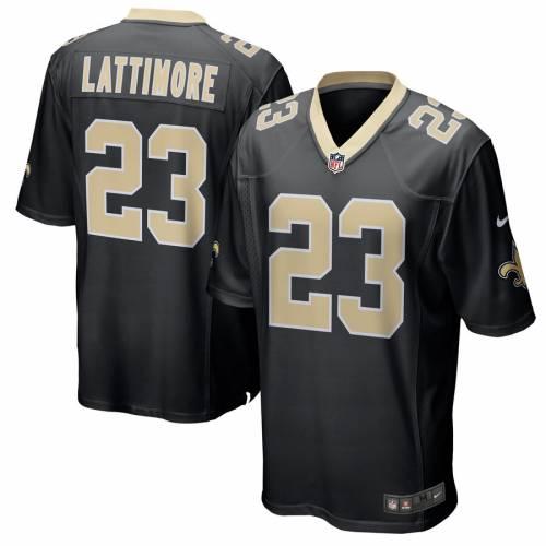 ナイキ NIKE セインツ ゲーム ジャージ 黒 ブラック スポーツ アウトドア アメリカンフットボール メンズ 【 Marshon Lattimore New Orleans Saints Game Player Jersey - Black 】 Black