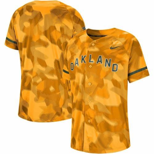 ナイキ NIKE オークランド ジャージ スポーツ アウトドア 野球 ソフトボール レプリカユニフォーム メンズ 【 Oakland Athletics Camo Jersey - Gold 】 Gold