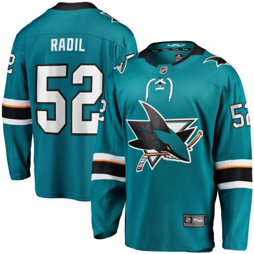 FANATICS BRANDED ジャージ 【 LUKAS RADIL SAN JOSE SHARKS HOME BREAKAWAY PLAYER JERSEY TEAL 】 送料無料