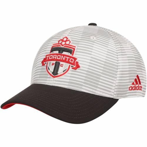 アディダス ADIDAS トロント ロゴ ジャージ バッグ キャップ 帽子 メンズキャップ メンズ 【 Toronto Fc Primary Logo Jersey Hook Structured Adjustable Hat - White/gray 】 White/gray