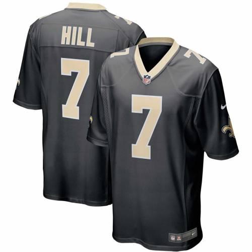 ナイキ NIKE セインツ ゲーム ジャージ 黒 ブラック スポーツ アウトドア アメリカンフットボール メンズ 【 Taysom Hill New Orleans Saints Game Jersey - Black 】 Black