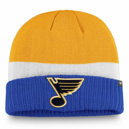 FANATICS BRANDED ジャージ ニット 青 ブルー St. バッグ キャップ 帽子 メンズキャップ メンズ 【 St. Louis Blues Breakaway Jersey Cuffed Knit Hat - Blue 】 Blue