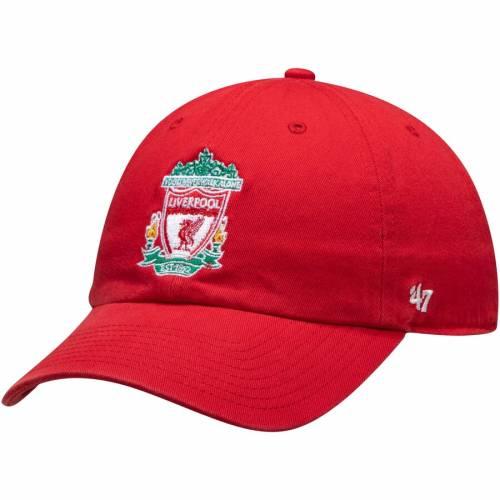 フォーティーセブン '47 赤 レッド '47 【 RED LIVERPOOL ALTERNATE CLEAN UP ADJUSTABLE HAT 】 バッグ  キャップ 帽子 メンズキャップ 帽子
