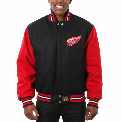 <title>ファッションブランド カジュアル ファッション ジャケット パーカー ベスト ジェイエイチデザイン JH 直輸入品激安 DESIGN デトロイト 赤 レッド 黒色 ブラック レッドウィングス 大きめ RED ALLWOOL JACKET BLACK メンズファッション コート</title>