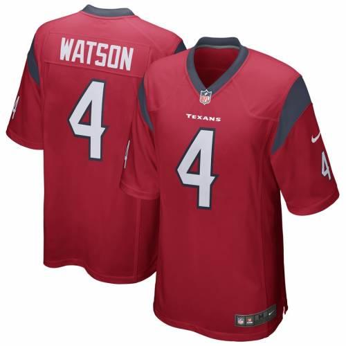ナイキ NIKE ヒューストン テキサンズ ゲーム ジャージ 紺 ネイビー スポーツ アウトドア アメリカンフットボール メンズ 【 Deshaun Watson Houston Texans Game Player Jersey - Navy 】 Red
