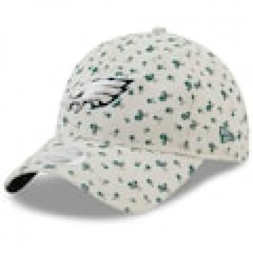 ファッションブランド カジュアル ファッション キャップ ハット NEW ERA フィラデルフィア イーグルス レディース クリーム ニューエラ WOMEN'S 【 FLORAL 9TWENTY ADJUSTABLE HAT CREAM 】