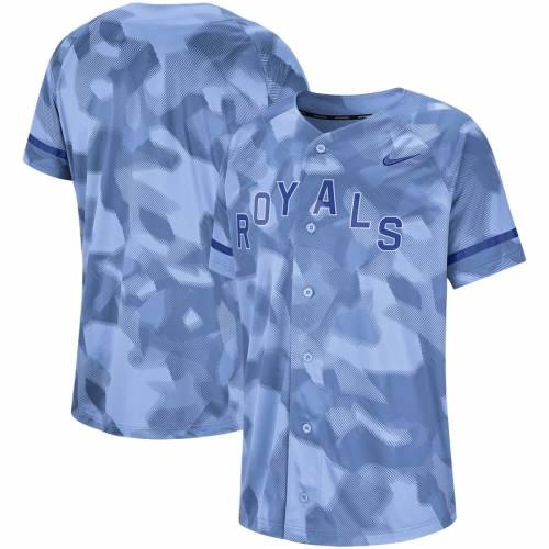 ナイキ NIKE カンザス シティ ロイヤルズ ジャージ 青 ブルー スポーツ アウトドア 野球 ソフトボール レプリカユニフォーム メンズ 【 Kansas City Royals Camo Jersey - Light Blue 】 Light Blue