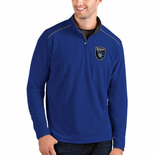 ANTIGUA 【 ANTIGUA SAN JOSE EARTHQUAKES GLACIER QUARTERZIP PULLOVER JACKET ROYAL 】 メンズファッション コート ジャケット