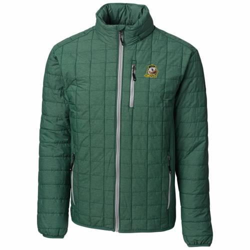 CUTTER & BUCK オレゴン 緑 グリーン & 【 GREEN CUTTER BUCK OREGON DUCKS RAINIER FULLZIP JACKET 】 メンズファッション コート ジャケット