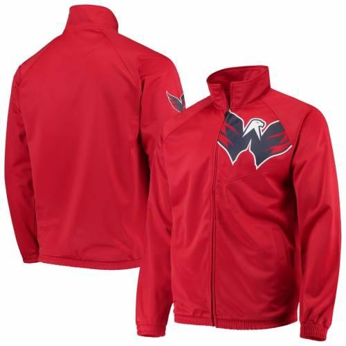 G-III SPORTS BY CARL BANKS ワシントン トラック 赤 レッド メンズファッション コート ジャケット メンズ 【 Washington Capitals Synergy Full-zip Track Jacket - Red 】 Red