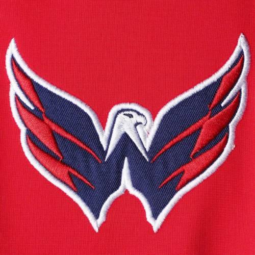 G-III SPORTS BY CARL BANKS ワシントン ファスト トラック ラグラン 灰色 グレー グレイ メンズファッション コート ジャケット メンズ 【 Washington Capitals Fast Track Raglan Half-zip Pullover Jacket - Red/he