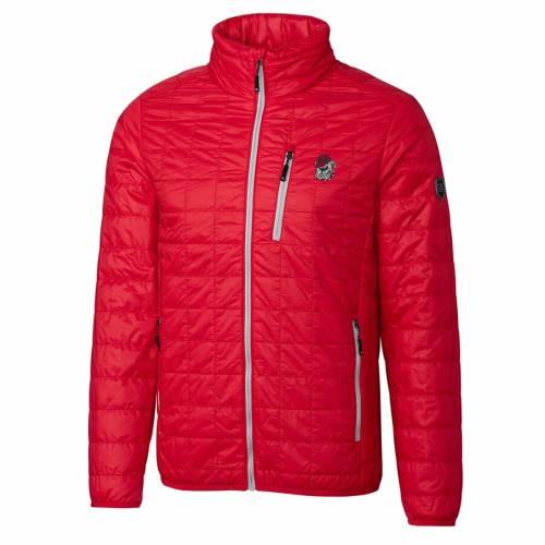 CUTTER & BUCK 赤 レッド メンズファッション コート ジャケット メンズ 【 Georgia Bulldogs Cutter And Buck Rainier Full-zip Jacket - Red 】 Red