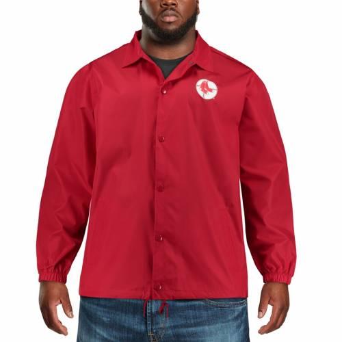 マジェスティック MAJESTIC ボストン 赤 レッド メンズファッション コート ジャケット メンズ 【 Boston Red Sox Big And Tall Heavy Jacket - Red 】 Red
