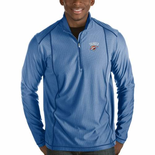 ANTIGUA シティ サンダー メンズファッション コート ジャケット メンズ 【 Oklahoma City Thunder Tempo Half-zip Pullover Jacket - Royal 】 Royal