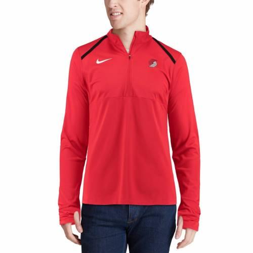 ナイキ NIKE ポートランド エレメント パフォーマンス 赤 レッド メンズファッション コート ジャケット メンズ 【 Portland Trail Blazers Element Performance Half-zip Pullover Jacket - Red 】 Red