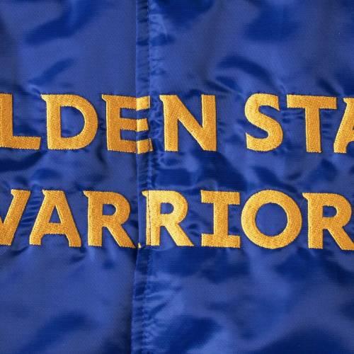 スターター STARTER スケートボード ウォリアーズ サテン メンズファッション コート ジャケット メンズ 【 Golden State Warriors The Offensive Varsity Satin Full-snap Jacket - Royal 】 Royal