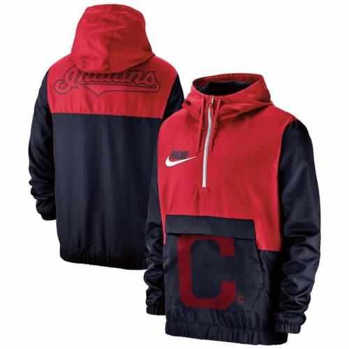 ナイキ NIKE クリーブランド インディアンズ 紺 ネイビー メンズファッション コート ジャケット メンズ 【 Cleveland Indians Anorak Half-zip Pullover Hooded Jacket - Navy 】 Navy