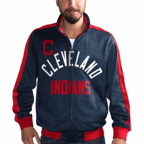 G-III SPORTS BY CARL BANKS クリーブランド インディアンズ トラック 紺 ネイビー メンズファッション コート ジャケット メンズ 【 Cleveland Indians Final Four Full-zip Track Jacket - Navy 】 Navy