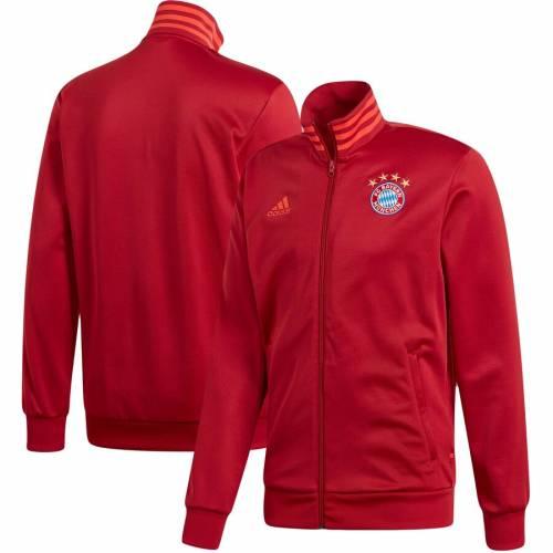 アディダス ADIDAS トラック 赤 レッド メンズファッション コート ジャケット メンズ 【 Bayern Munich 3-stripe Full-zip Track Jacket - Red 】 Red