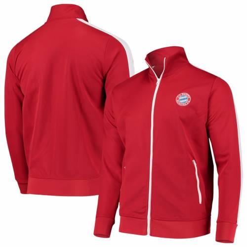 FC BAYERN M・・NCHEN AG トラック 赤 レッド メンズファッション コート ジャケット メンズ 【 Bayern Munich Retro Full-zip Track Jacket - Red 】 Red