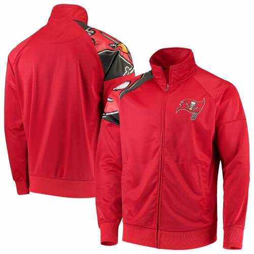 G-III SPORTS BY CARL BANKS バッカニアーズ トラック 赤 レッド メンズファッション コート ジャケット メンズ 【 Tampa Bay Buccaneers Interception Full-zip Track Jacket - Red 】 Red
