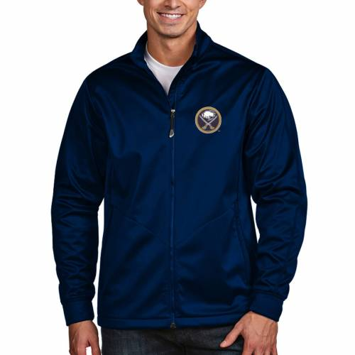ANTIGUA バッファロー ゴルフ 紺 ネイビー メンズファッション コート ジャケット メンズ 【 Buffalo Sabres Full Zip Golf Jacket - Navy 】 Navy