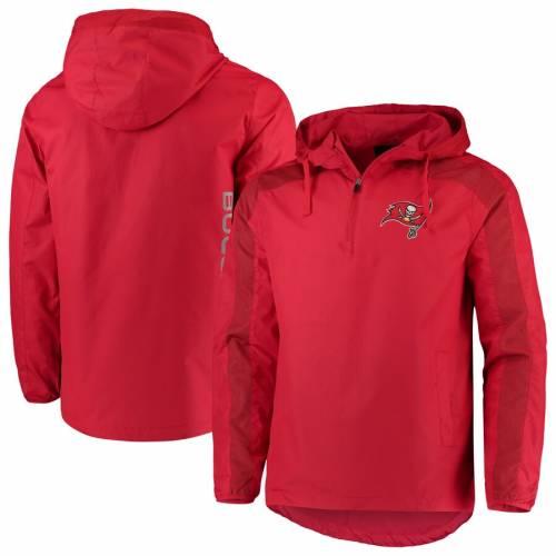 G-III SPORTS BY CARL BANKS バッカニアーズ 赤 レッド メンズファッション コート ジャケット メンズ 【 Tampa Bay Buccaneers Lineup Hooded Half-zip Jacket - Red 】 Red