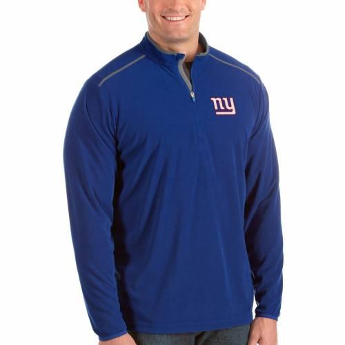 ANTIGUA ジャイアンツ 赤 レッド メンズファッション コート ジャケット メンズ 【 New York Giants Glacier Big And Tall Quarter-zip Pullover Jacket - Red 】 Royal