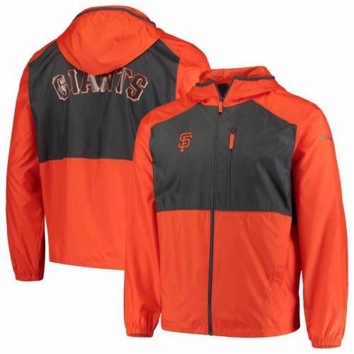 コロンビア COLUMBIA ジャイアンツ ウィンドブレーカー メンズファッション コート ジャケット メンズ 【 San Francisco Giants Flash Forward Full-zip Windbreaker Jacket - Orange/black 】 Orange/black