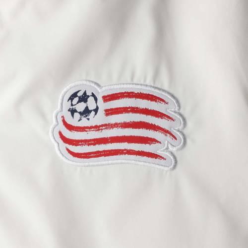 アディダス ADIDAS 白 ホワイト メンズファッション コート ジャケット メンズ 【 New England Revolution 2019 On-field Anthem Full-zip Jacket - White 】 White