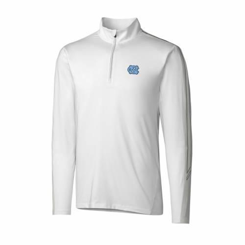CUTTER & BUCK ノース カロライナ 白 ホワイト メンズファッション コート ジャケット メンズ 【 North Carolina Tar Heels Cutter And Buck Drytec Pennant Sport Half-zip Pullover Jacket - White 】 White