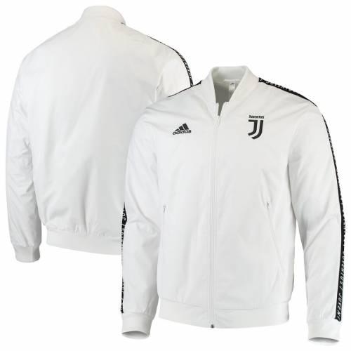 アディダス ADIDAS 白 ホワイト メンズファッション コート ジャケット メンズ 【 Juventus Anthem Full-zip Jacket - White 】 White