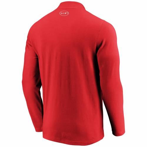 アンダーアーマー UNDER ARMOUR ボストン 赤 レッド パッション パフォーマンス メンズファッション コート ジャケット メンズ 【 Boston Red Sox Passion Performance Tri-blend Quarter-zip Pullover Jacket - Re
