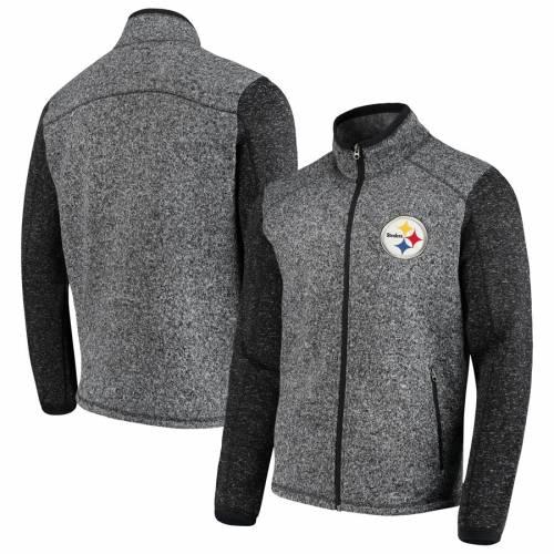 G-III SPORTS BY CARL BANKS ピッツバーグ スティーラーズ ゾーン フリース チャコール メンズファッション コート ジャケット メンズ 【 Pittsburgh Steelers Alpine Zone Sweater Fleece Full-zip Jacket - Heathere