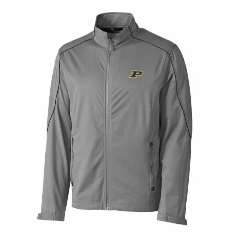 CUTTER & BUCK 灰色 グレー グレイ メンズファッション コート ジャケット メンズ 【 Purdue Boilermakers Cutter And Buck Big And Tall Weathertec Opening Day Full Zip Jacket - Gray 】 Gray