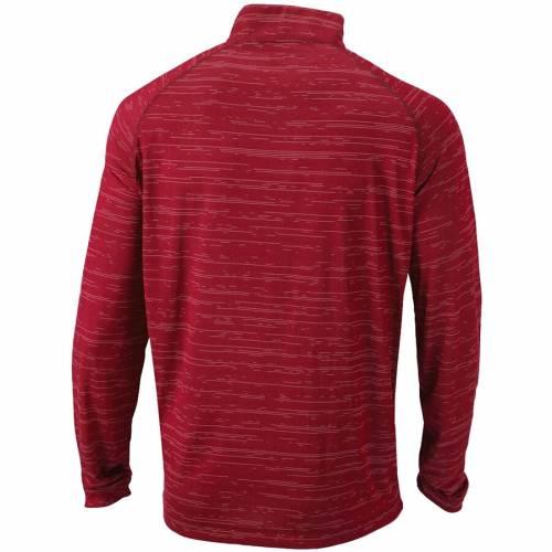 コロンビア COLUMBIA ウィスコンシン ラグラン 赤 レッド メンズファッション コート ジャケット メンズ 【 Wisconsin Badgers Approach Raglan Quarter-zip Pullover Jacket - Red 】 Red
