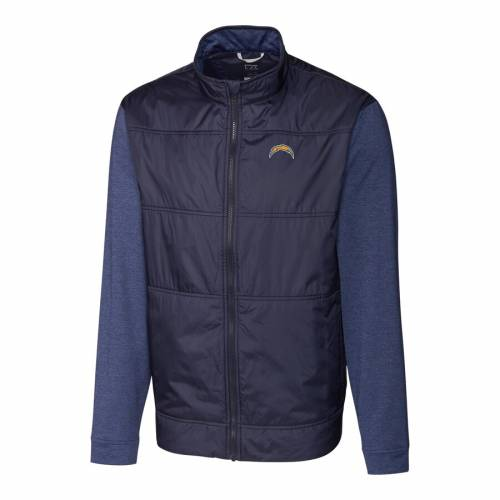 CUTTER & BUCK チャージャーズ ステルス 紺 ネイビー メンズファッション コート ジャケット メンズ 【 Los Angeles Chargers Cutter And Buck Stealth Big And Tall Full-zip Jacket - Navy 】 Navy