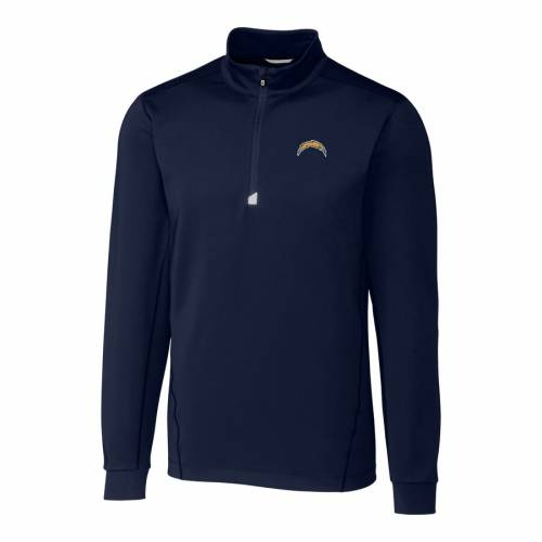 CUTTER & BUCK チャージャーズ 紺 ネイビー メンズファッション コート ジャケット メンズ 【 Los Angeles Chargers Cutter And Buck Big And Tall Traverse Half-zip Pullover Jacket - Navy 】 Navy