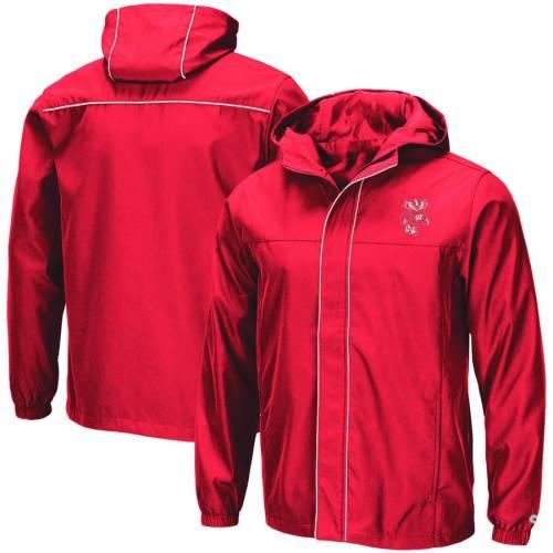 COLOSSEUM ウィスコンシン 赤 レッド メンズファッション コート ジャケット メンズ 【 Wisconsin Badgers Giant Slalom Full-zip Jacket - Red 】 Red