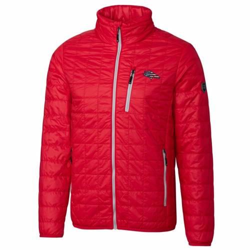 CUTTER & BUCK デンバー ブロンコス 紺 ネイビー メンズファッション コート ジャケット メンズ 【 Denver Broncos Cutter And Buck Americana Rainier Full-zip Jacket - Navy 】 Red
