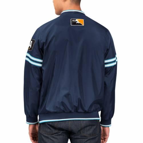 スターター STARTER ゲーム トレーナー 紺 ネイビー メンズファッション コート ジャケット メンズ 【 London Spitfire Overwatch League Game Day Trainer Pullover Jacket - Navy 】 Navy