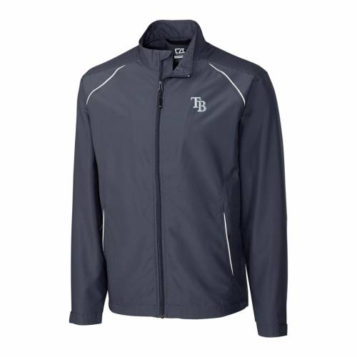 CUTTER & BUCK レイズ チャコール メンズファッション コート ジャケット メンズ 【 Tampa Bay Rays Cutter And Buck Big And Tall Weathertec Beacon Full Zip Jacket - Charcoal 】 Charcoal