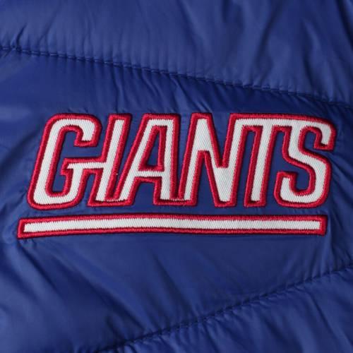 G-III SPORTS BY CARL BANKS ジャイアンツ メンズファッション コート ジャケット メンズ 【 New York Giants Blitz Packable Puffer Full-zip Jacket - Royal 】 Royal