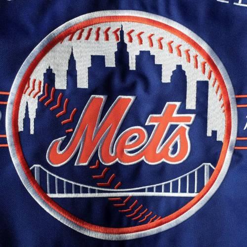 JH DESIGN メッツ リバーシブル メンズファッション コート ジャケット メンズ 【 New York Mets Reversible Poly-twill Hooded Jacket - Royal 】 Royal