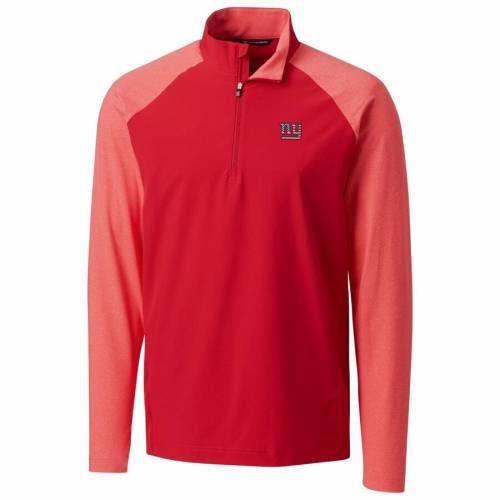 CUTTER & BUCK ジャイアンツ レスポンス ハイブリッド 赤 レッド メンズファッション コート ジャケット メンズ 【 New York Giants Cutter And Buck Americana Response Hybrid Quarter-zip Jacket - Red 】 Red